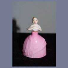 Old Doll Miniature Perfume Bottle China Head Doll Dollhouse Vanity