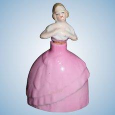 Old Doll Miniature Perfume Bottle China Head Doll Dollhouse Vanity