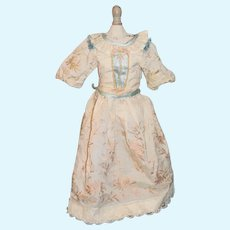 Vintage Doll Dress Hand Made Charming Fancy Emboidery