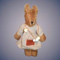 Vintage Senger Stuffed Animal Dressed W/ Tag Jointed  German Dog