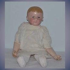 "Antique Doll Martha Chase Wonderful Large Oil Cloth Doll 23"" Tall"