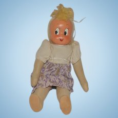 Old Cloth Doll Mask Face Character Doll