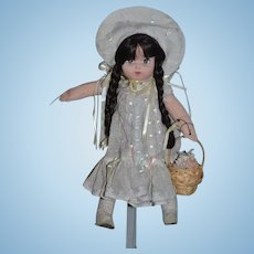 Vintage Cloth Doll City Child By Robin Woods In Original Box Artist Doll
