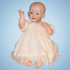 "Antique Doll Bisque JDK Solid Dome Baby Jean Kestner WONDERFUL 20"" Tall"
