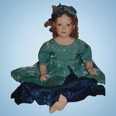 "Christine Orange Artist Doll Signed Numbered Porcelain Doll 26"" Tall"