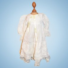 Old Doll White Cotton & Lace Dress Sweet