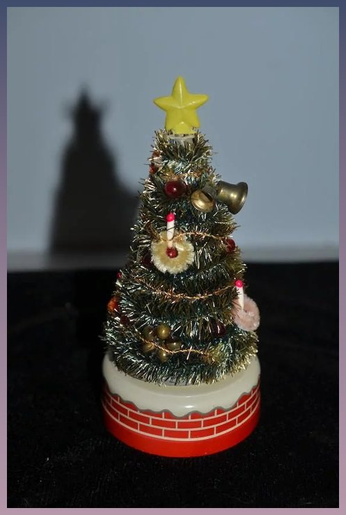 old doll miniature christmas tree battery operated miniature dollhouse - Battery Operated Christmas Tree