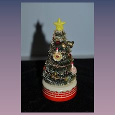 Old Doll Miniature Christmas Tree Battery Operated Miniature Dollhouse