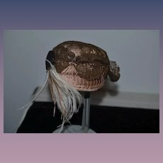 Wonderful Doll Hat Bonnet Lace Feathers By Mildred Romano