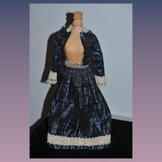 Wonderful Doll Two Piece Outfit Dress Jacket Skirt Fashion Doll Hand Made