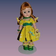 Vintage Doll Sweet Ginny Vogue W/ Tagged Outfit and Purse Walker