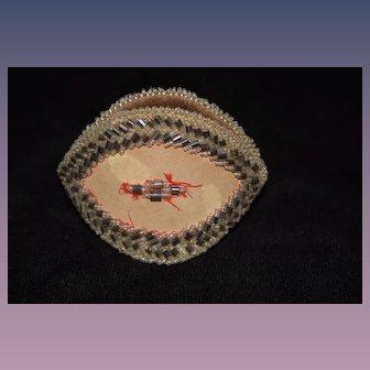 Antique Souvenir Beaded Purse For Doll