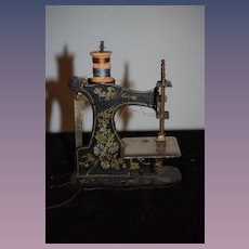 Antique Doll Child's Miniature Thin Painted Sewing Machine Crank Handle