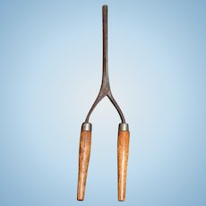 Old Wood and Metal Glove Stretchers Miniature For Doll