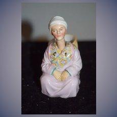 Old Doll Bisque Nodder Oriental Figurine