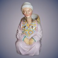 Old Doll Bisque Nodder Oriental Figurine