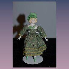 Sweet Artist Doll Miniature Four Leaf Clover Hat An Irish Girl Bisque Unusual