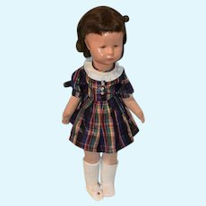 Old Kathe Kruse Doll Celluloid Head Painted Features Cloth Body Jointed