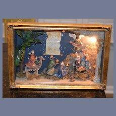 Wonderful Doll Diorama Miniature Nativity Scene Room Box Lighted