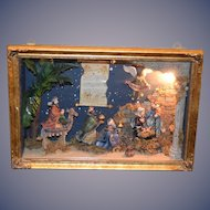 Wonderful Doll Diorama Miniature Nativity Scene Room Box Lighted