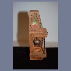 Old Doll Wood Tole Painted & Copper Miniature Well Dollhouse