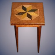 Miniature Doll Wood Table Dollhouse
