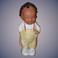 Old Doll Black All Bisque Nodder Doll Miniature Dollhouse