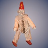 Antique Doll Schoenhut Clown For The Circus Wood Carved Jointed Doll
