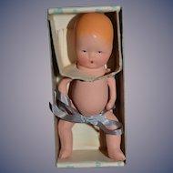 Old Doll Miniature In Original Heart Box Kerr Hinz Baby Doll