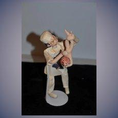 Vintage Doll Cloth Doll Klumpe Doctor W/ Baby