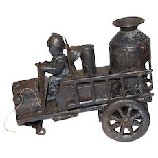 Old Tin Friction Fire Truck Toy
