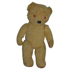 Old Sweet Teddy Bear Jointed Doll Friend