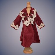 Sweet Doll Coat Velvet Lace Hand Made