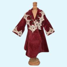 Sweet Doll Coat Velvet Lace Hand Made