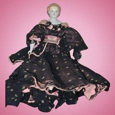 Antique Doll China Head W/ Hair Netting