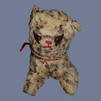 Old Cloth Stuffed Animal Cat Tabby Cloth Doll