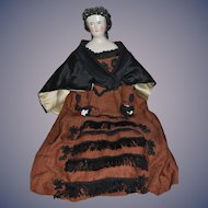 Antique Doll China Head Fancy CONTA & BOEHME Fancy Outfit