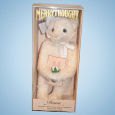 """Vintage Teddy Bear MerryThought  """"Diana"""" in Original Box W/ Papers"""