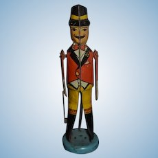 Old Doll Tin Conductor Mechanical Miniature Unusual