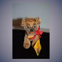 Vintage Steiff Mopey Dog Sweet W/ Button Tags and string Tag Mohair