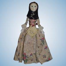 Wonderful Peter Wolf Wood Carved Artist Glass Eyes 4 of 30 Doll Unusual Look