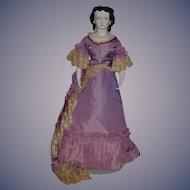 Vintage Doll 1952 Artist Doll Fancy Porcelain Unusual Look Signed