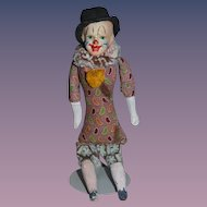 Old Doll Papier Mache Jester Clown Character Doll