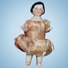 Antique Doll Miniature China Head Dollhouse Sweet Frozen Charlotte