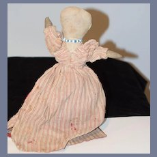 Antique Cloth Doll Black Doll White Doll Topsy Turvy Folk Art