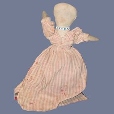 Antique Cloth Doll Black Doll White Doll Topsy Turvy Folk Art