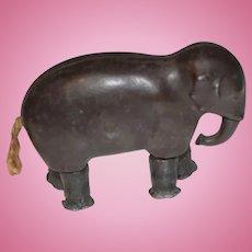 Antique Cast Iron Elephant Ramp Walker Toy Miniature