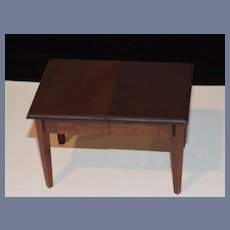 Old Doll Miniature Wood Dollhouse Table Extends