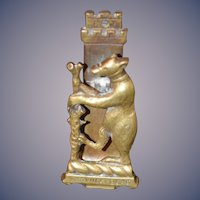 Old Warwick Bear Brass Door Knocker Teddy Bear Charming