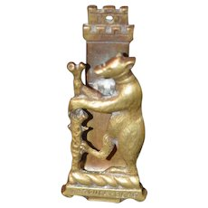 Old Warwick Bear Brass Door Knocker Teddy Bear Charming